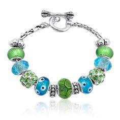 DaVinci Beads Toggle Bracelet - Available in several sizes. Beads sold separately, over 400 beads to choose from.  Personalize to match style, personality, or special occasions.