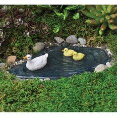 $15.99 acrylic Duck Pond with resin ducks - efairies.com