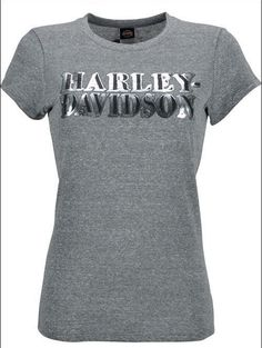 HARLEY-DAVIDSON® WOMENS SCREAMIN EAGLE LUREX FOIL TEE HARLLT0091