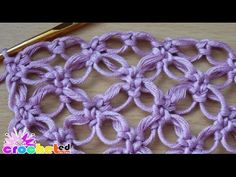 ▶ How to crochet stitch Solomon knot - YouTube
