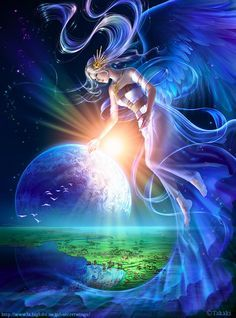 A good Avangar. The goddess that brought life to the planet Avangar. She and the planet are bound together.