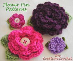 Flower pin patterns