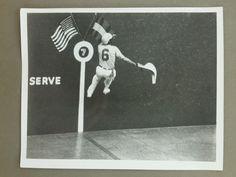 Vintage Original 8x10 Jai Alai Press Photo in Game Climbing High Up The Wall | eBay