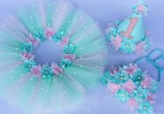 Love the colors, pearl embellishments and flowers around the waist Butterfly Birthday, Mermaid Birthday, 1st Birthday Girls, Baby Girl Tutu, Baby Girl Dresses, Baby Dress, Diy Tutu, Tulle Tutu, Tulle Skirt Tutorial