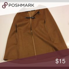 Poncho/Overcoat Tan poncho/overcoat with black buckles Jackets & Coats Capes