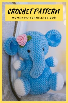 This crochet pattern contains a detailed description of how to create Elephant, with a great amount of step-by-step photos and a list of necessary materials. Octopus Crochet Pattern, Elephant Pattern, Easy Crochet Patterns, Crochet Patterns Amigurumi, Handmade Ideas, Handmade Dolls, Etsy Handmade, Handmade Gifts, Crochet Mouse