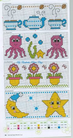 étoile - lune - point de croix - cross stitch - Blog : http://broderiemimie44.canalblog.com/
