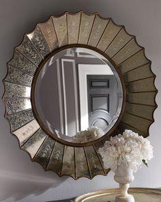 Sunburst mirror for living room
