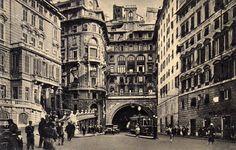 Genova_Largo Zecca Galleria V.Emanuele III antica