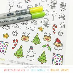23 Best Sticky Sweet, Colored Stickers images | Sweet stamp shop