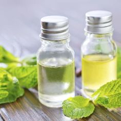 Peppermint essential oil can be made with peppermint leaves and a carrier oil.