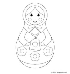 Coloriage poupee russe google search matriochkas - Coloriage russie ...