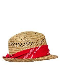 Bandana wicker hat, what a cleaver idea