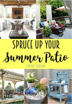 Home Decor Kitchen Spruce up your summer patio with these beautiful decor and DIY ideas!Home Decor Kitchen Spruce up your summer patio with these beautiful decor and DIY ideas! Stylish Home Decor, Unique Home Decor, Cheap Home Decor, Pallet Patio, Diy Patio, Do It Yourself Organization, New Interior Design, Interior Colors, Minimalist Home Interior