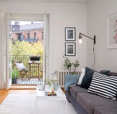 Small apartment with a balcony