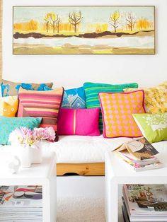 Colourful décor.