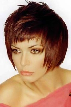 Image 145. Short red hairstyles pictures. red haircuts section 15.