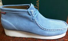 Clarks Padmore Wallabee Blue White Suede 30563 Men sz - 13 in Clothing, , Mens Shoes, Casual Mens Casual Leather Shoes, Casual Slip On Shoes, Suede Leather, Hype Shoes, Men's Shoes, Shoe Boots, Dress Shoes, Clarks Shoes Mens, Clarks Boots