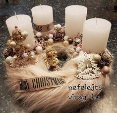 Christmas Advent Wreath, Christmas Decorations, Table Decorations, Holiday Decor, Wreaths, Ideas, Flower Arrangements, Xmas, Candle Decorations
