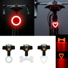 Waterproof Mountain Bike Cycling Warning Lights Front Rear Tail Safety WT88 07