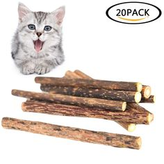 Havenport 20 Pcs Cat Chew Sticks Cat Teeth Toy Natural Matatabi Catnip Sticks for Dental Cleaning Increase Appetite -- Nice having you for having visited our photo. (This is an affiliate link) Increase Appetite, Catnip Toys, Cat Treats, Sticks, Dental, This Is Us, Teeth, Image Link, Cleaning