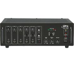 SSA-160E: 160Watts PA #Amplifier with Digital Echo  Power Output: 220W Max., 160W RMS at 10% THD  Input Channel: 5 x Mic 0.65mV/4.7kΩ, 2 x Aux 100mV/470kΩ, 1 x Line 1V/20kΩ Digital Echo: Echo facility on all inputs through Echo repeat & delay controls providing Echo... Reverb... Chorus... Effect Tone Controls: Bass: ±10dB at 100Hz, Treble: ±10dB at 10kHz Outputs: Preamp 200mV/600Ω, Line 1V/1kΩ Speaker Outputs: 4Ω, 8Ω, 16Ω, 70V & 100V  www.atracoustics.com