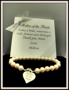 Mother of the Bride Pearl Strand Bracelet, Mother of the Groom Wedding Gift Memorable Jewelry. $36.00, via Etsy.