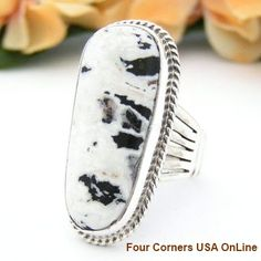 Four Corners USA Online - Size 9 White Buffalo Turquoise Ring by Navajo Artisan Tony Garcia NAR-1425 Native American Silver Jewelry, $160.00 (http://stores.fourcornersusaonline.com/size-9-white-buffalo-turquoise-ring-by-navajo-artisan-tony-garcia-nar-1425-native-american-silver-jewelry/)