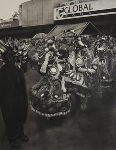 """Drawing by Luisi Mera Diablicos Sucios, Charcoal on paper, 36""""x28"""""""