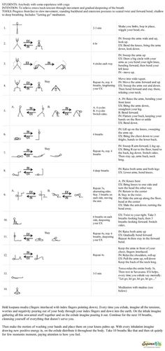Yoga sequence for stress relief - Sequence Wiz - create effective yoga sequences