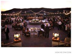Hummingbird Nest Ranch Wedding : Nicole+Matt    Sunset, Lights  Wide Scenic Shot