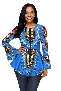 Ready to ship: Chicloth Blue Afr.... http://chicloth.com/products/chicloth-blue-african-print-zipper-front-long-sleeve-top?utm_campaign=social_autopilot&utm_source=pin&utm_medium=pin