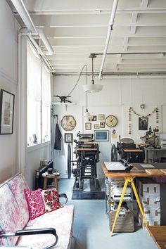 inspring interior spaces of creatives from Maker Spaces by Emily Quinton