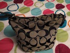 Authentic Coach Black Signature- Purse Handbag