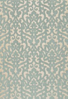 Fabric | Luxembourg Velvet in Aqua | Schumacher