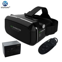 Find More 3D Glasses/ Virtual Reality Glasses Information about 100% Original VR SHINECON Virtual Reality 3D Glasses Helmet VR BOX Movie for Samsung 4.7~6 inch Smartphone+Wireless Gamepad 1.0,High Quality glasses wine,China glasses candies Suppliers, Cheap glasses from Guangzhou Etoplink Co., Ltd on Aliexpress.com
