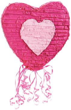 An Alluring Heart Pull-String Pinata. Pleasing Set of Peppa Pig Pull-String Pinatas for Bachelor Party, Valentine's Day at PartyBell. Bachelorette Party Supplies, Converse With Heart, Love Valentines, Party Themes, Birthday, Bff, Conversation, Hearts, Fiestas