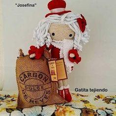 ¡¡Feliz día de Reyes!! La muñeca Josefina. (Basada e inspirada en la diseñadora Carmen rentería) #amigurumis  #muñecacrochet