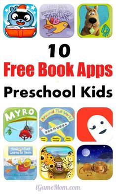 10 FREE Book Apps for Preschool Kids, all with high quality, engaging stories, and intelligent use of tablet features. Fun and interactive, these are great early child literacy resources for school, homeschool, home book reading.