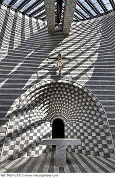 New Mogno Church, Ticino, Switzerland (1986-1994) / Mario Botta