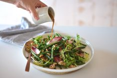 Maggie Beer's Grilled Green Bean, Witlof and Walnut Salad