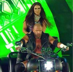 WWE Hall of Fame legend Triple H (Paul Levesque) with his wife Stephanie McMahon before his match at WrestleMania 33 at Camping World Stadium in Orlando, Florida. Wrestling Superstars, Wrestling Divas, Wwe Stephanie Mcmahon, Mcmahon Family, Paul Michael, Wrestlemania 33, Wwe Couples, Catch, Wwe Tna