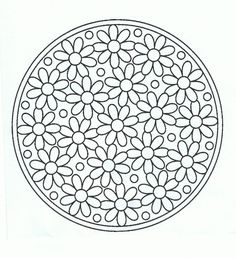 ☯☮ॐ Color It a Yourself! ~ Daisy Mandala