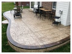 poured concrete patio and retaining wall backyard inspiration pinterest poured concrete concrete patios and retaining walls