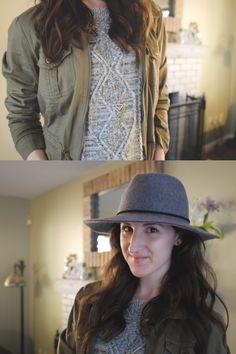 A perfect day for a cozy sweater ensemble. By the time my photographer (obliging husband) got home to snap some… Leather Leggings Look, Rainy Morning, A Perfect Day, Felt Hat, Cozy Sweaters, Husband, Jeans, Outfits, Fashion