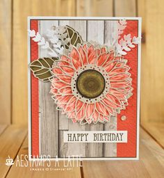 Homemade Birthday Cards, Homemade Cards, Fun Fold Cards, Cute Cards, Sunflower Cards, Fall Birthday, Stamping Up Cards, Thanksgiving Cards, Fall Cards
