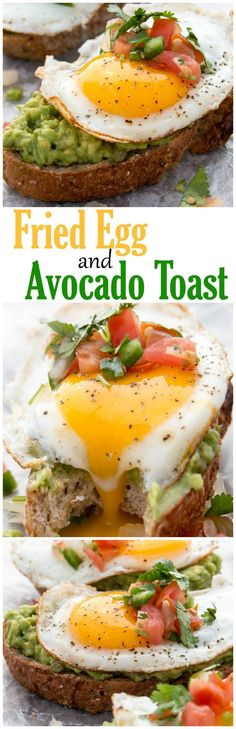 Sunny side up just got even better with this amazing Fired Egg and Avocado Toast. - such an easy, delicious, and healthy breakfast recipe! Avocado Recipes, Egg Recipes, Brunch Recipes, Yummy Recipes, Vegetarian Recipes, Cooking Recipes, Healthy Recipes, Recipies, Baby Recipes