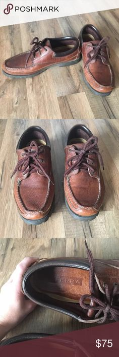 Leather Sperry Loafers Sperry Loafers, made of genuine leather. Rugged soles, similar to hiking boots. Men's size 10. 💛All items come from a smoke free, meow friendly home 💛 Sperry Shoes Loafers & Slip-Ons