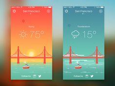 Dribbble - Weather iPhone App  by Alex Pronsky