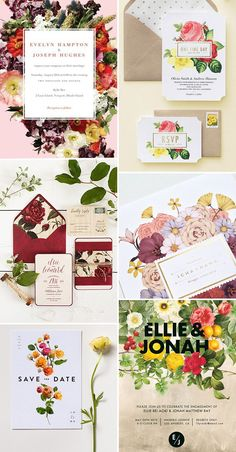 Wedding Invite Crush - Dramatic Floral Wedding Stationery | www.onefabday.com